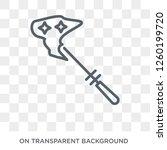 magic wand icon. trendy flat...   Shutterstock .eps vector #1260199720