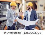 two engineer have consulting... | Shutterstock . vector #1260203773