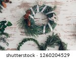 christmas decoration table...   Shutterstock . vector #1260204529