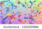 disco background. many random...   Shutterstock .eps vector #1260204886