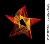 abstract star of flames curve... | Shutterstock .eps vector #1260205603