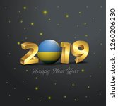 2019 happy new year rwanda flag ... | Shutterstock .eps vector #1260206230