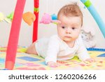 playing little child on the... | Shutterstock . vector #1260206266