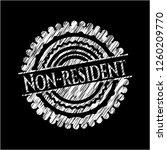 non resident written on a... | Shutterstock .eps vector #1260209770