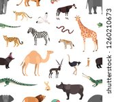 seamless pattern with exotic... | Shutterstock .eps vector #1260210673