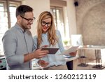 young business woman and... | Shutterstock . vector #1260212119