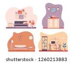 set interior of the living room ...   Shutterstock .eps vector #1260213883