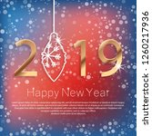 happy new year 2019 poster with ... | Shutterstock .eps vector #1260217936