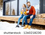 young lovely couple dressed in... | Shutterstock . vector #1260218230