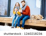young lovely couple dressed in... | Shutterstock . vector #1260218236