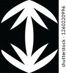 modern zebra floral print... | Shutterstock .eps vector #1260220996