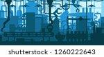 factory plant conveyor line... | Shutterstock .eps vector #1260222643