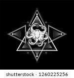 sacred geometry with octopus.... | Shutterstock .eps vector #1260225256