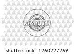 absentee grey emblem. retro... | Shutterstock .eps vector #1260227269