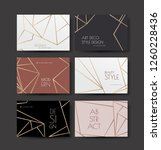 a series of designs with gold... | Shutterstock . vector #1260228436