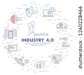 industry 4.0 background. flat... | Shutterstock .eps vector #1260228466