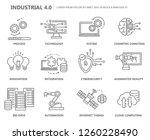 industry 4.0 icon set. flat...   Shutterstock .eps vector #1260228490