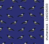 seamless pattern with crows on... | Shutterstock .eps vector #1260230203