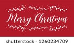 merry christmas holiday vector... | Shutterstock .eps vector #1260234709