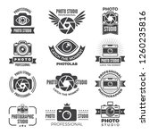 logotypes and symbols of photo... | Shutterstock . vector #1260235816