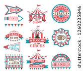 labels in retro style. logos... | Shutterstock . vector #1260235846