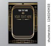 art deco page template  retro... | Shutterstock .eps vector #1260243433