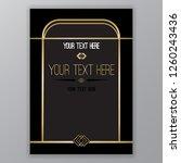art deco page template  retro... | Shutterstock .eps vector #1260243436