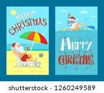 merry christmas  santa claus... | Shutterstock .eps vector #1260249589