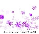 winter snowflakes border trendy ... | Shutterstock .eps vector #1260255640