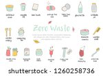 big set of hand drawn zero... | Shutterstock .eps vector #1260258736