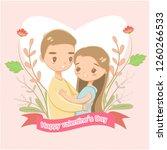 romantic couple for valentine... | Shutterstock .eps vector #1260266533
