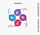 infographics circle options... | Shutterstock .eps vector #1260268153