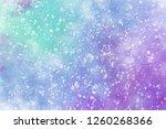 winter purple watercolor... | Shutterstock . vector #1260268366