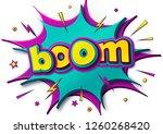 comic poster  speech bubbles ... | Shutterstock .eps vector #1260268420