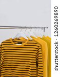 different yellow sweaters  ... | Shutterstock . vector #1260269890