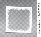 snowy square frame template set ... | Shutterstock .eps vector #1260269896