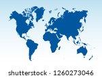 color world map vector | Shutterstock .eps vector #1260273046