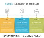 infographic template with 3... | Shutterstock .eps vector #1260277660