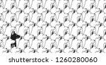 dog seamless pattern vector... | Shutterstock .eps vector #1260280060