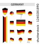 germany flag collection. flat... | Shutterstock .eps vector #1260281890