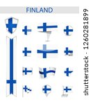finland flag collection. flat... | Shutterstock .eps vector #1260281899
