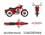 retro classic motorcycle in... | Shutterstock .eps vector #1260285466