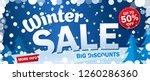 bright horizontal sale banner ... | Shutterstock .eps vector #1260286360