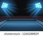 empty wrestling sport arena.... | Shutterstock . vector #1260288829