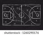 chalkboard with basketball... | Shutterstock . vector #1260290176