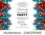 christmas party invitation...   Shutterstock .eps vector #1260290560