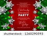 christmas party invitation... | Shutterstock .eps vector #1260290593