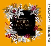 merry christmas greeting card... | Shutterstock .eps vector #1260290626
