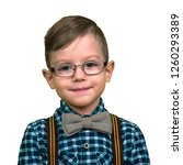 boy with glasses and bow tie...   Shutterstock . vector #1260293389