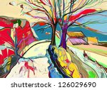 original digital painting of... | Shutterstock . vector #126029690